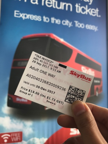 You can't use your Myki card in here. You must pay with SkyBUs ticket