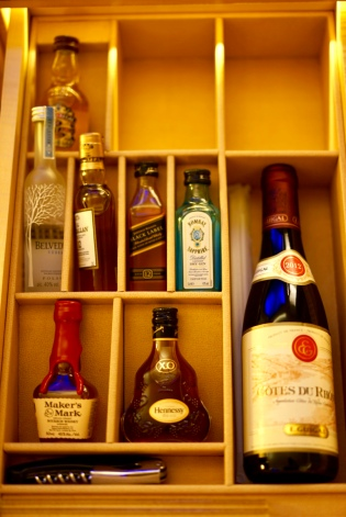 Mini Bar options - Liquor all the way!