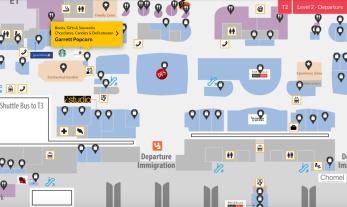 Garret Pop Corn Map Location in Terminal 2
