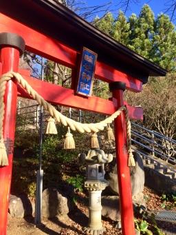 The gate welcoming me to enter Arakura Sengen Shrine
