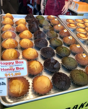 They also sell madeleines in a variety of flavones - honey, chocolate, matcha