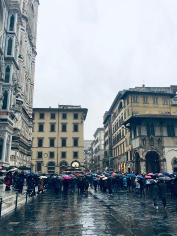 The rainbow of an umbrella