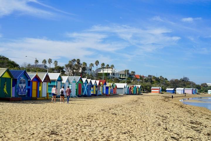 Brighton Beach dan Eureka Skydeck. Dari Pantai Ikonik sampai Gedung Tertinggi DiMelbourne