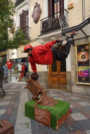 Street performer show off their magic