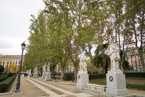 Jardines de lepanto. It has beautiful sculptures made from plants, The park is well maintained
