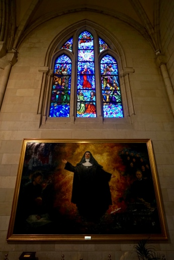The religious painting of the nun