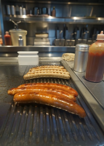 Long Germanese sausage. The legend says that curry-wurst was originally created by a woman in 1949 who got ketchup and curry powder from British soldiers