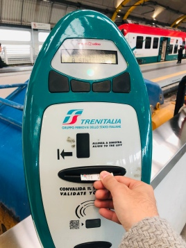 Don't forget to validate your Leonardo Express ticket at the machine near the train before you enter