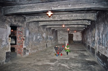 The gas chamber in the main Auschwitz camp. Picutre courtesy by scrapbookpages.com