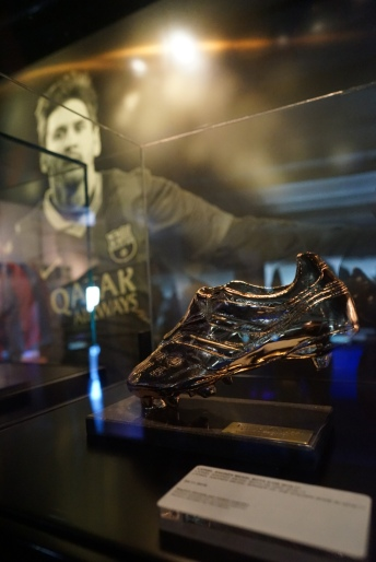 So far Messi has 5 Golden Shoe Award
