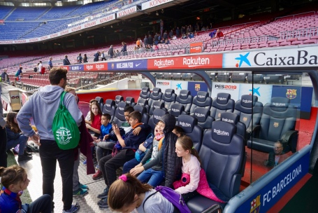 Pitch side access to the dug outs