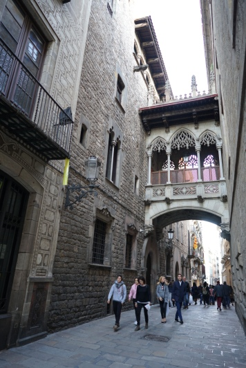 The Gothic Quarter district is one of the oldest and most beautiful area in Barcelona