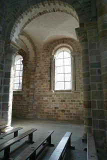Its gothic pointed arches and bigger windows fill the sanctuary with lights