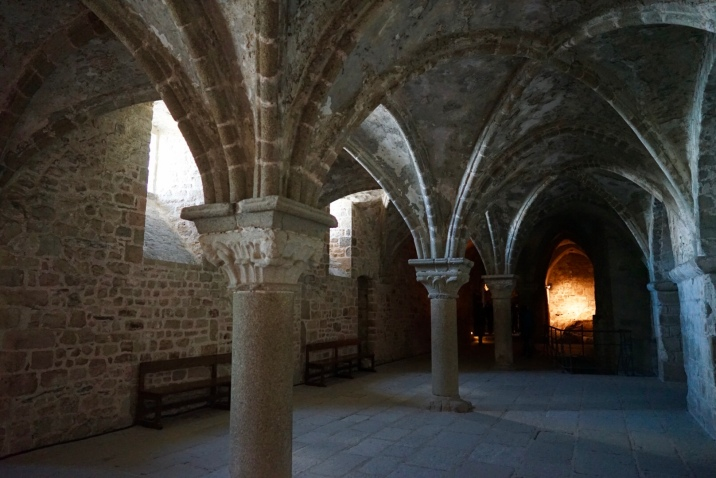 It was built in the 15th century to support the Gothic chancel of the abbey church