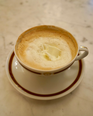 'Melange', a hot cup of coffee with milk foam. It turns my dream into reality