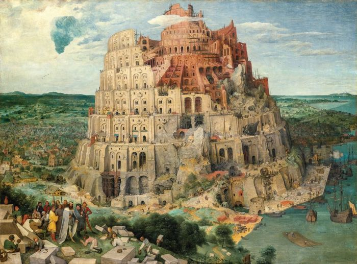 Pieter Bruegel the Elder, The Tower of Babel (1563). Courtesy of Kunsthistorisches Museum Vienna