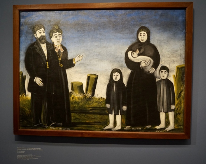 Childless Millionaire and the Poor Women with Children by Niko Pirosmani, Georgian painter