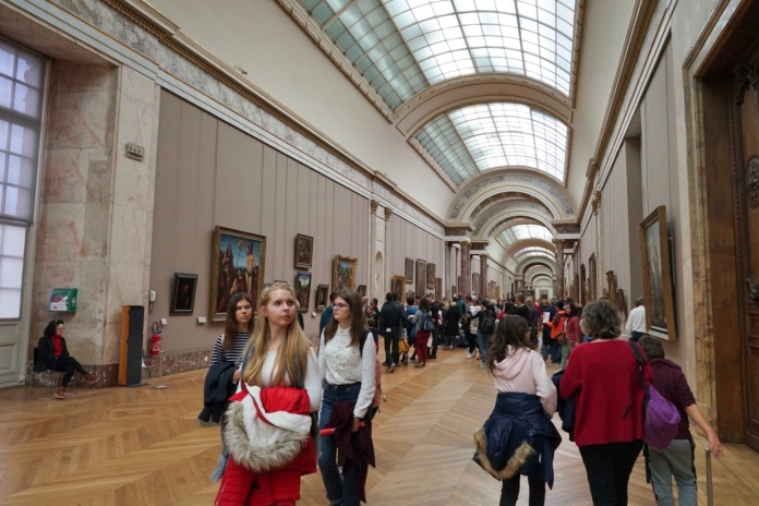 14 kilometers of galleries full of the finest world art