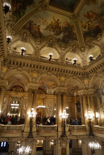 The majestic grandeur of the opera house is breath taking. The paintings, opera hall, chandeliers, and the gold paint is impressive