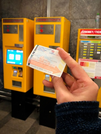 For travelling within the area of Prague choose a ticket for 24 CZK - 30 minutes, 32 CZK - 90 minutes , or 110 CZK - 24 hours. I bought this 1-day ticket when i have to go to Vyšehrad