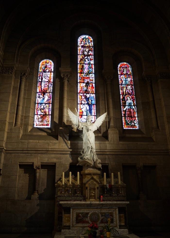 White Statue of Saint Michael
