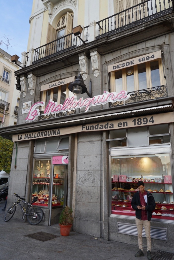 One of Madrid's most famous bakeries, located right on the Puerta del Sol